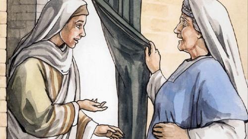 """Cristo era """"Emanuel"""" [Dios en la carne]; María y Elizabet se regocijan"""