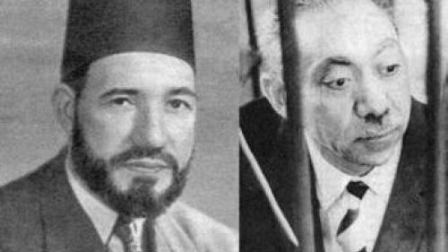 El fundador Hassan al-Banna y su discípulo Sayyid Qutb
