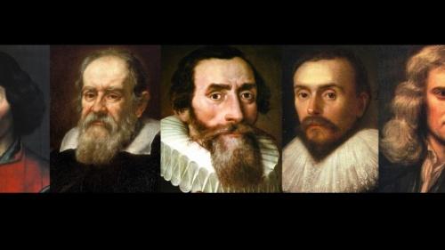 Copérnico, Galilei, Kepler, Harvey y Newton