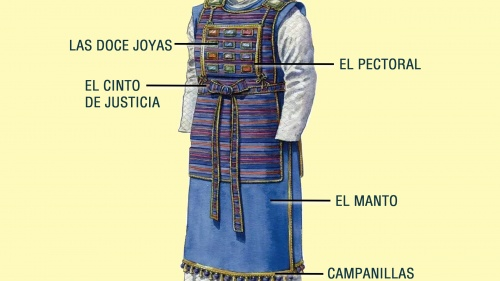 Imagen de la indumentaria del Sumo Sacerdote
