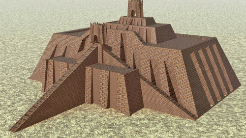 Representación de un zigurat