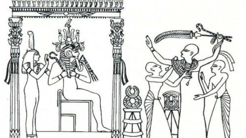 Grabado Tumba del visir Paser 1300 a.C.