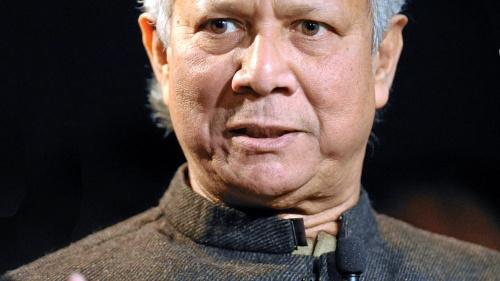 Muhammad Yunus - Foro Económico Mundial en Davos, Suiza, 2012.