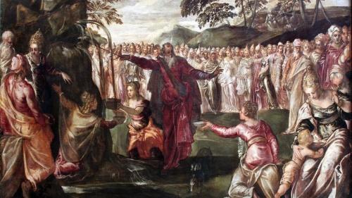 Moisés golpeando la peña