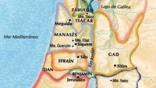 Repartición de las 12 Tribus de Israel
