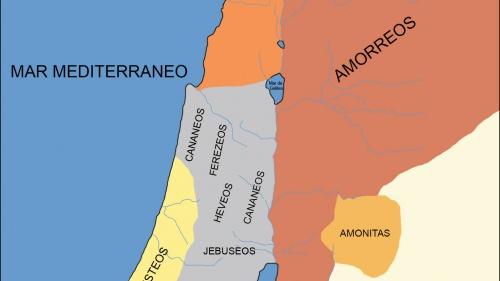 La región de Palestina antes de la conquista