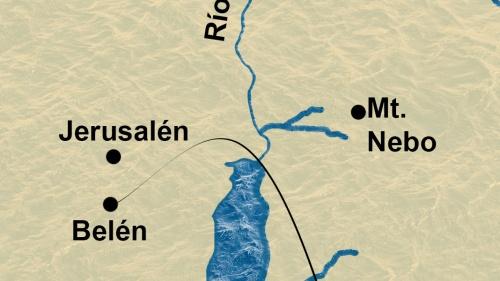 Mapa de Belén y Jerusalén
