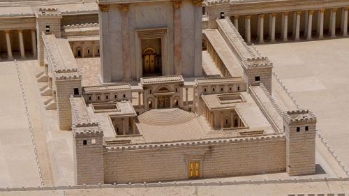 Representación del Templo construido por Salomón