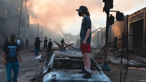 Secuelas de disturbios en Minneapolis, 28 de mayo