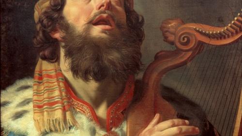 "David: ""el dulce cantor de Israel"" (2 Samuel 23:1)."