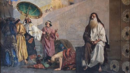 Amán se enfurece porque Mardoqueo no se humilla ante él