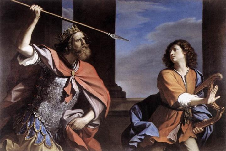 Resultado de imagen para rey david huye de saul