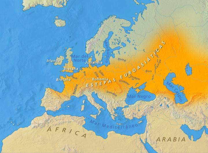 Celtas y escitas interactuaron libremente a través de redes comerciales y de viaje que iban desde el Mar Caspio hasta el Océano Atlántico.