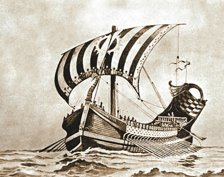 Representación artística de un velero