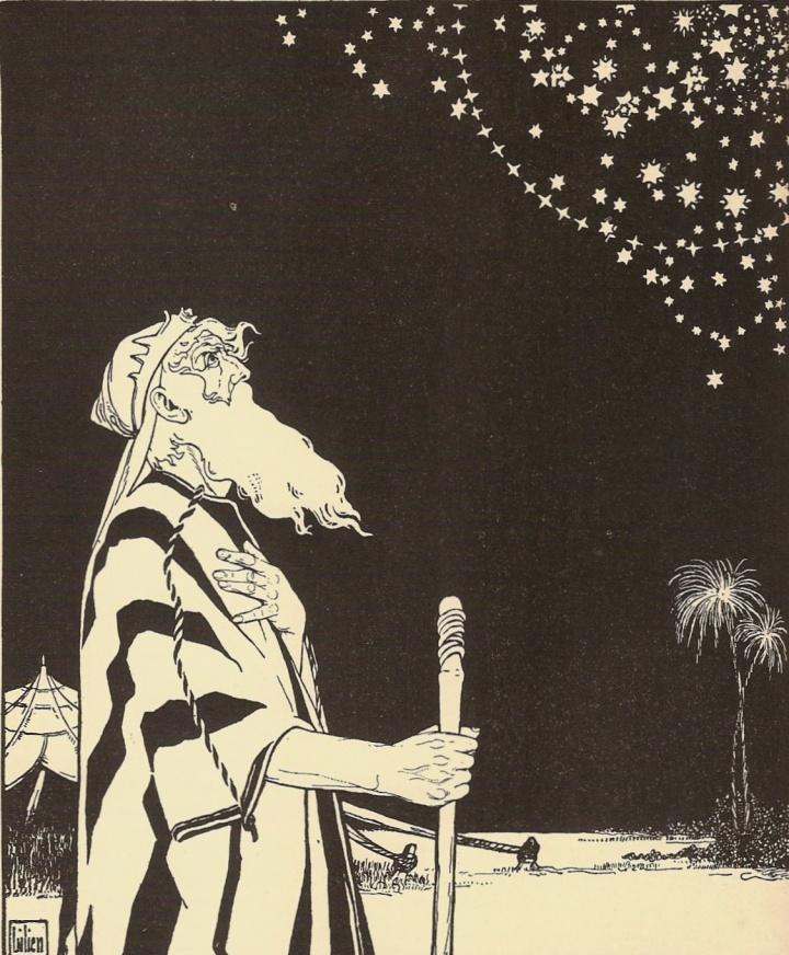 Abraham contempla las estrellas