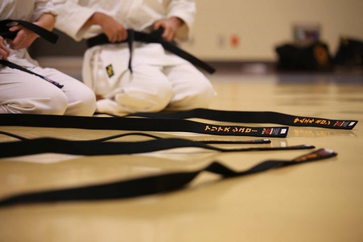 En cada dojo (lugar designado para llevar a cabo la práctica y meditación en karate) hay una serie de preceptos escritos, llamado el dojo kun.
