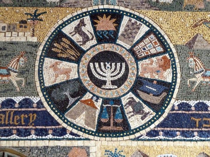 Representación de las 12 tribus de Israel