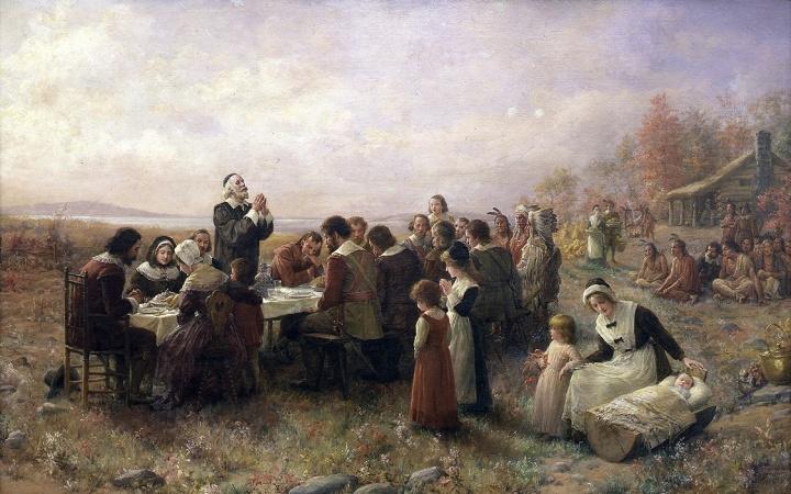 Después de arribar en el Mayflower, su legendario barco, estos colonos del Nuevo Mundo provenientes de Europa pisaron por primera vez Cape Cod, Nueva Inglaterra, el 13 de noviembre de 1620