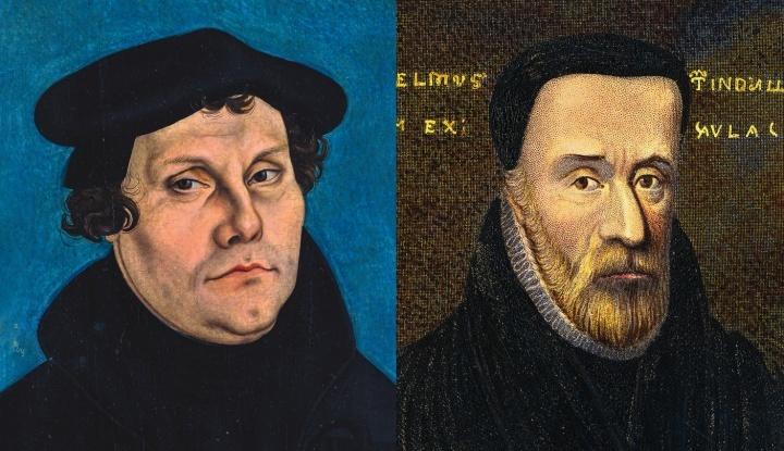 Los famosos reformadores de la iglesia Martín Lutero (izq.) y William Tyndale entendían la verdad bíblica de que los muertos, en vez de ir al cielo o al infierno al morir, en realidad descansaban inconscientes hasta una futura resurrección.